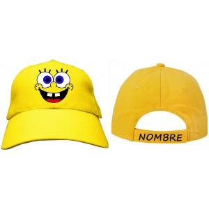 e1b5b37faaf8b Gorra bob esponja personalizada nombre talla infantil niño niña jpg 300x300 Bob  esponja dibujos de gorra