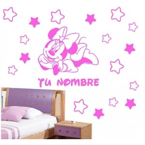 Vinilo pared minnie estrellas personalizado nombre vinilo for Vinilos pared fortnite