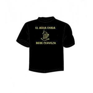 Camiseta El Agua Oxida Bebe Cerveza bc00d964a0de2