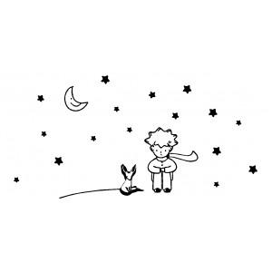 Vinilo decorativo el principito zorro luna estrellas - Vinilo el principito ...