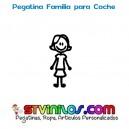 Pegatina Familia Coche Hija Mayor Adolescente