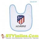 Babero Atletico de Madrid Escudo Nuevo Personalizado Nombre