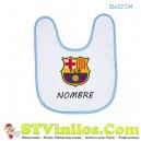 Babero FC Barcelona Barça Personalizado Nombre