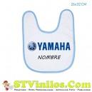 Babero Yamaha Logo Azul Personalizado Nombre