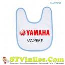 Babero Yamaha Logo Rojo Personalizado Nombre