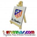 Caballete Atletico de Madrid clasico azulejo personalizado con nombre