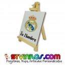 Caballete Real Madrid azulejo personalizado con nombre
