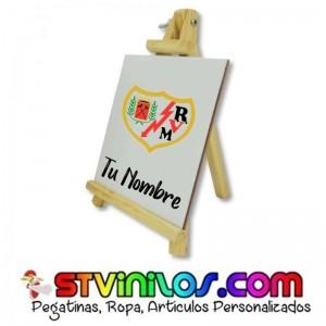 Caballete Rayo Vallecano azulejo personalizado con nombre