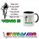 Taza No hay excusas VAMOS !!! Ciclismo btt mtb bici
