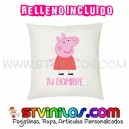 Cojin Peppa Pig Personalizado con Nombre