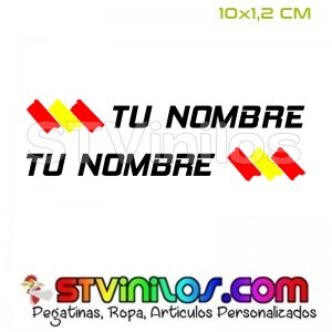 Pegatina Nombre con Bandera España Pincelada Trazos