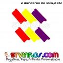 2 Pegatinas Bandera España Pincelada Trazos 12 Cm