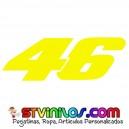 Pegatina 46 numero Valentino Rossi