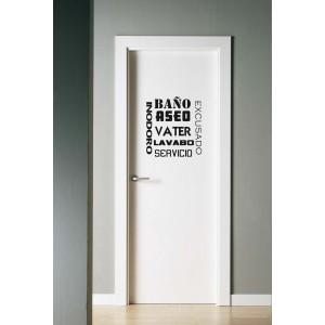 Vinilo decorativo puerta lavabo - Vinilo puerta cocina ...