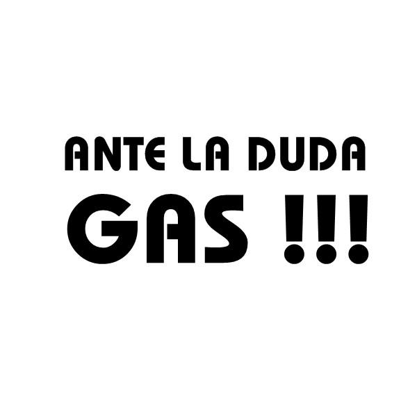 Pegatina Ante La Duda Gas