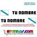 Pegatina Nombre con Bandera Galicia Galiza 9 CM
