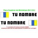 Pegatina Nombre con Bandera Canarias
