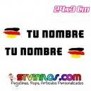Pegatina nombre con bandera Alemania Trazos Pincelada tipo Rally Rallye