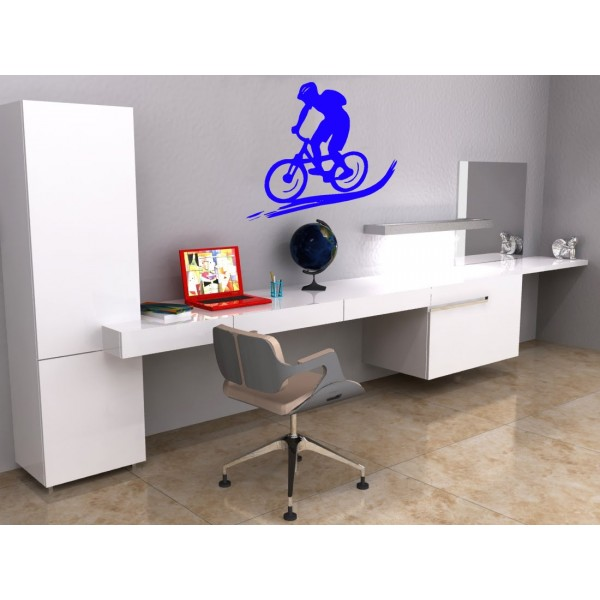 Vinilo decorativo pared btt bicicleta for Vinilos pared fortnite