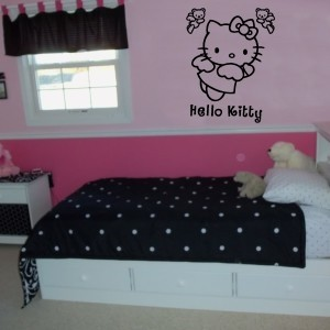 Vinilo infantil hello kitty vinilos infantiles - Dormitorio hello kitty ...