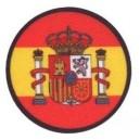 Parche Estampado Bandera España Redondo Escudo
