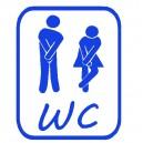 Vinilo WC Decorativo para Baño Aseos Pipi Aseo Toilet Puerta