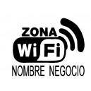 Pegatina Zona Wifi Nombre Personalizado